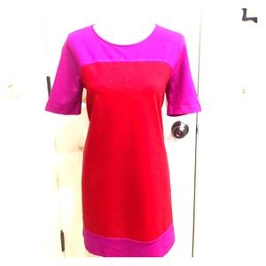 Kate Spade New York Red and fuchsia dress.